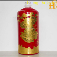 HS high sale gold stamping porcelain water transfer decal for glass bottle