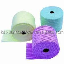 Kaixuan Competitive Price Make-to-Order Mesh Apertured Spunlace Nonwoven Fabric