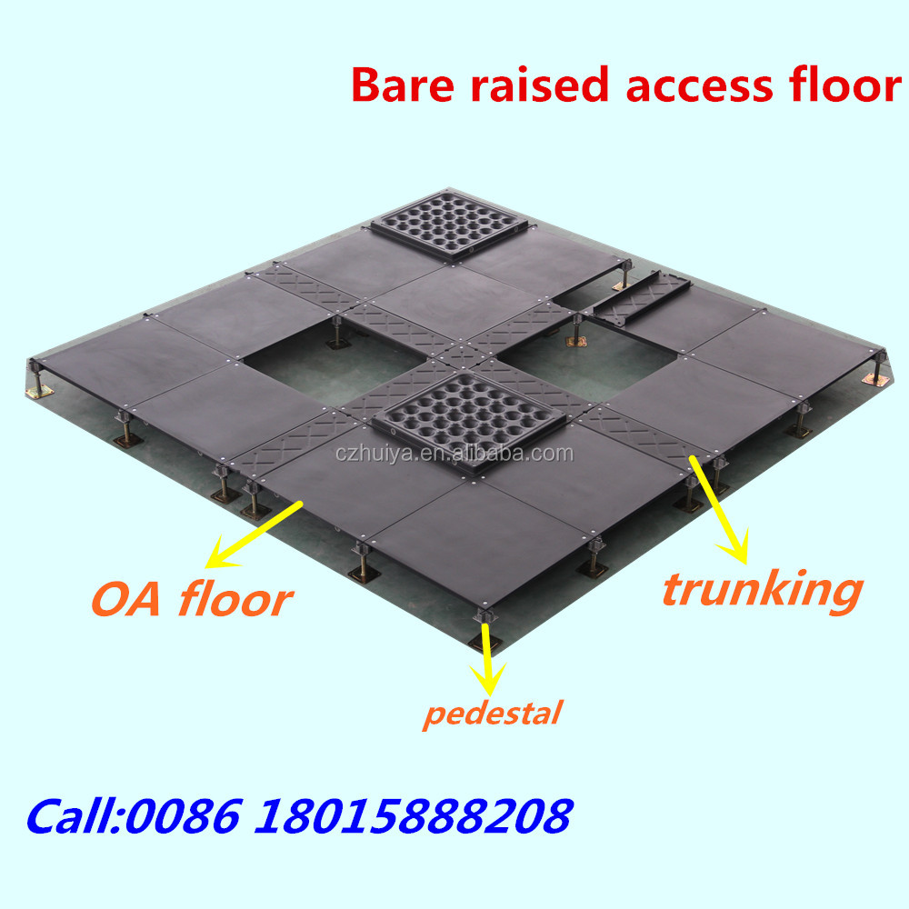 Network bare raised access floor