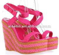 2013 latest designer models wedge sandals footwear for large size woman
