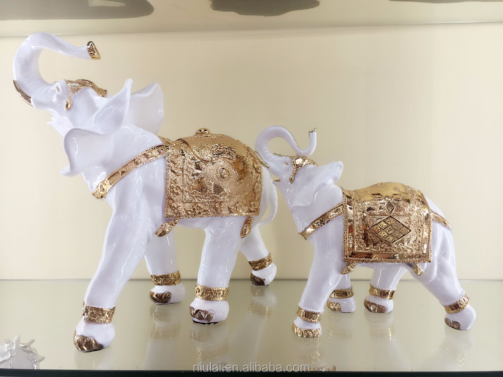 Home decoration Thai elephant animal figurine resin indoor decorative statue