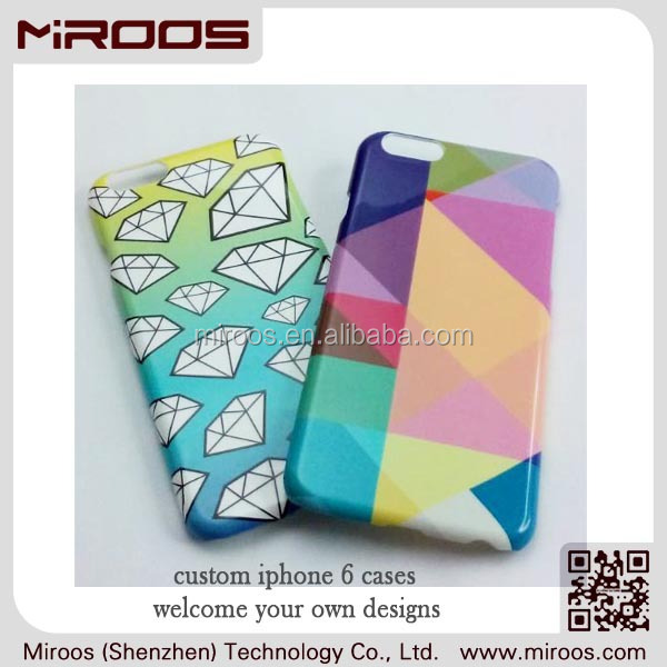 Miroos cell phone accessory polycarbonate colorful printable odm oem welcome mobile phone case for iphone 6