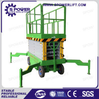 Rough terrain used trailer mobile scissor lift for sale
