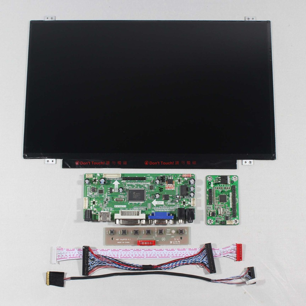 "HDMI VGA DVI Audio Controller board 14"" B140HAN01.2 1920X1080 IPS LCD Screen"
