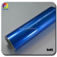 TSAUTOP RoHS certificate Air free Bubbles 1.52*30m glossy Navy blue Metallic pearl car stickers for full car body film