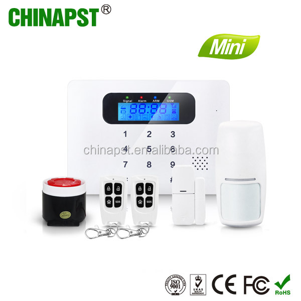 2017 Alibaba New Product Smart LCD Display CID Wireless GSM house alarms systems PST-G30C