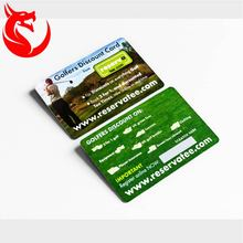 Golf club membership rfid card with signature