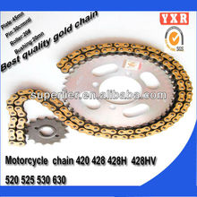 hot sale motorcycle chain and sprocket kits,chain sprocket kawasaki chain and sprocket kits,transmission kit chain drive motorcy