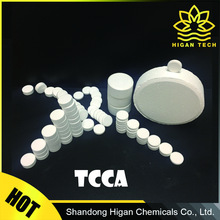 TCCA 90% or Trichloroisocyanuric acid tablet for swimming pool water treatment CAS No.:87-90-1