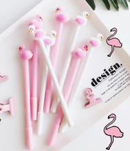 0.5mm ins pink flamingo signature ball black plastic pen black office stationery