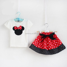 kids mickey minnie mouses costume for children dress QKC-2543