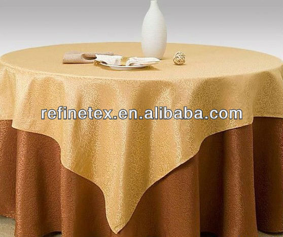 100% Polyester hotel table cloth/hotel table linen