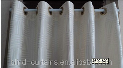 eyelets / hookless shower window curtain make in China