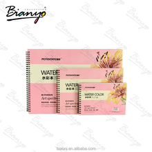 Pink acid free Non-fading rough lines watercolor drawing paper