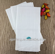 2015 Fashion plain white 100% cotton handkerchief for African