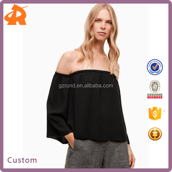 OEM off shoulder hot sexy plus size fashion blouse,chiffon fashion clothes manufacturers china