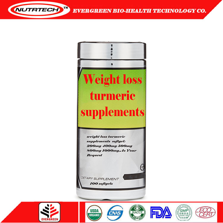 Lower Price weight loss supplement turmeric capsules with High Quality