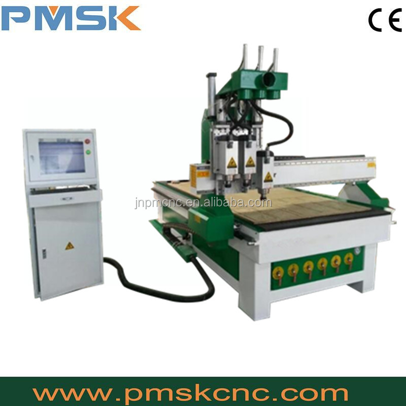 Jinan factory sale woodworking machinery/ cnc wood carver for cabinet,kitchen,banthroom cabinet making PM 1325