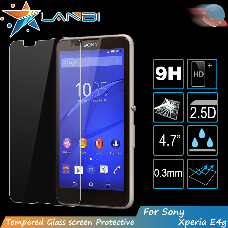 4.7 Inch Screen Touch 0.3mm 2.5D 9H Tempered Glass Screen Protector For Sony Xperia E4g