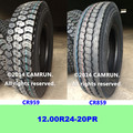 Truck tire made in China 12.00R24 by tyre manufacturer