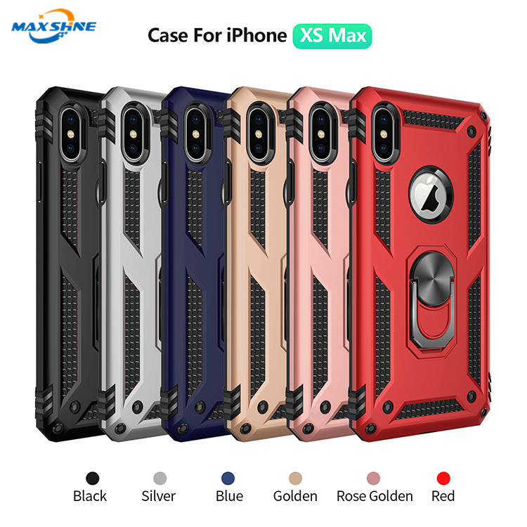 Maxshine Magnetic Car Mount TPU and PC Case for iPhoneXS/XS Max, TPU and PC Case for Samsung S9/S9 Plus