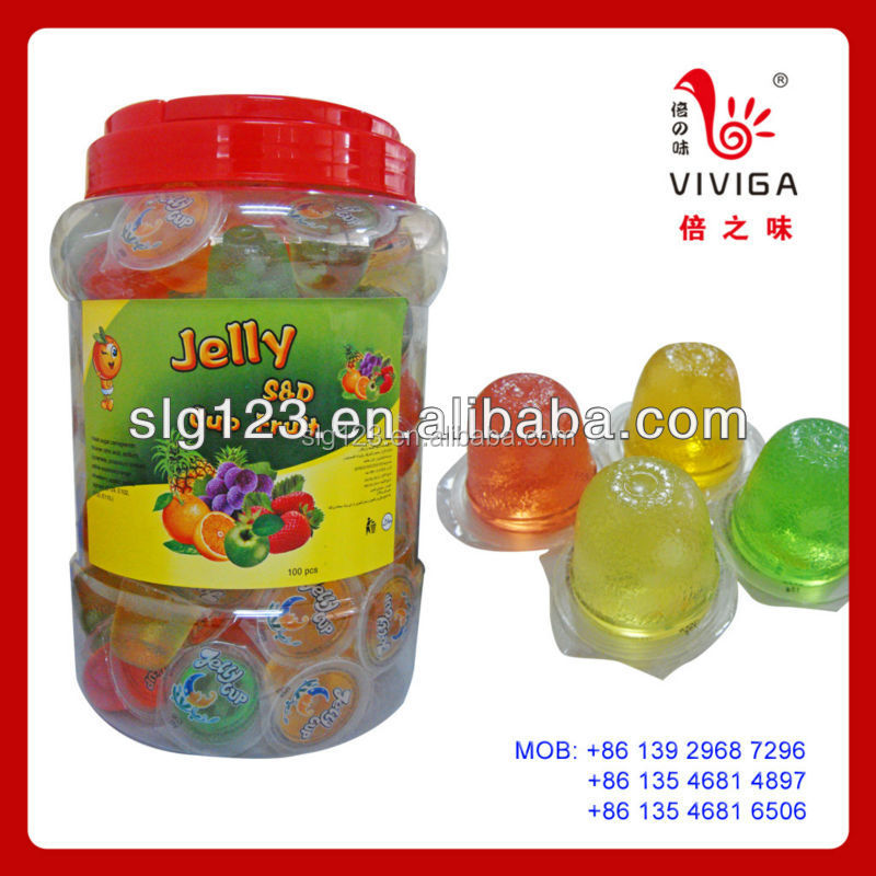 15g Jar Pack fruit mini Jelly Cup with Fruits