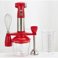 Stainless steel hand blender with turbo,continuously speed control ,cup & beater & chopper, food processor and bracket