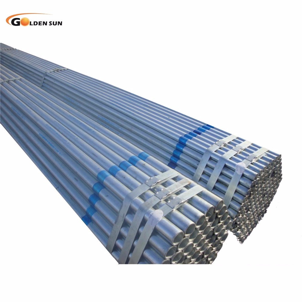 Galvanized pipe 1.5 3 4 galvanized steel hot rolled /dipped building pipe building materials