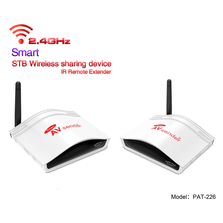 150m 2.4G Smart Digital STB Wireless TV Transmitter Receiver Compatible for 38KHz/ 56KHz Infrared Carrier Transmission PAT-226