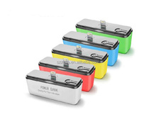 2600mah dock charger Pocket Mini Portable Rechargeable Power Bank for iphone and android phones
