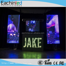 P4.8mm indoor rental full color cloth shop advertising video curtain led display