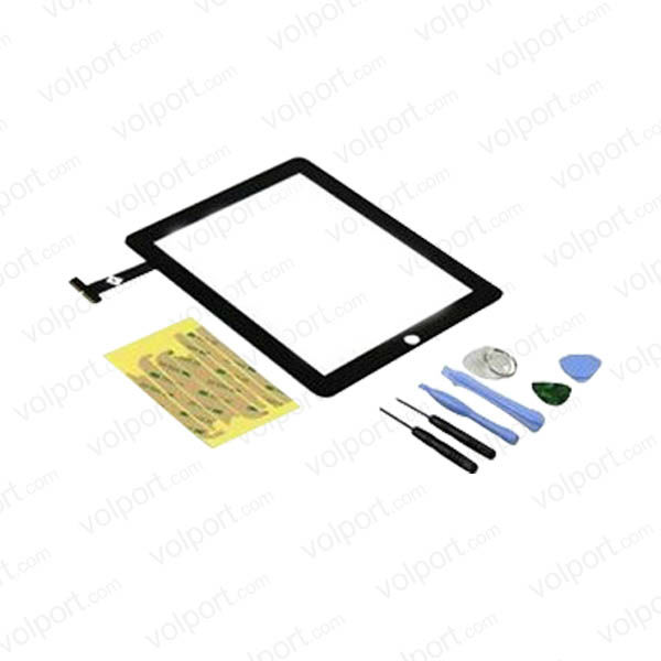 Black Glass Touch Screen Digitizer Replacement Part for iPad 2 with Tool Kit