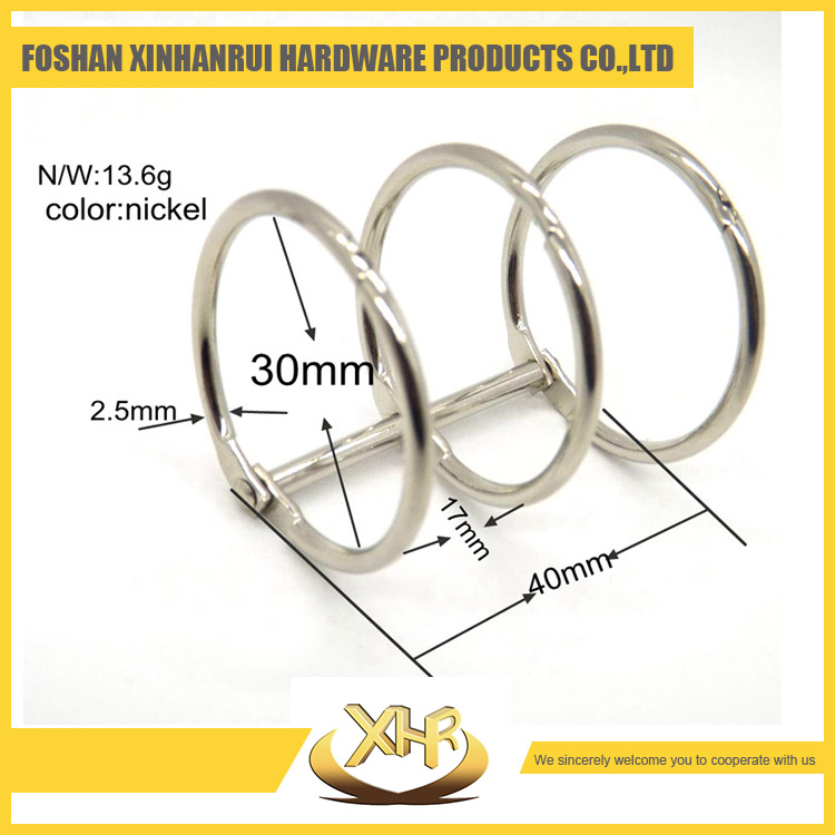 Desk binding ring for loose-leaf calendar paper nickel plated 3 rings calendar accessories