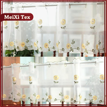 Germany sunflower design colorful fancy kitchen window curtains