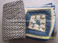 Hand Block Print Quilts~100 % Cotton stuffing light weight quilts~Indian Handmade Block Printed Quilts