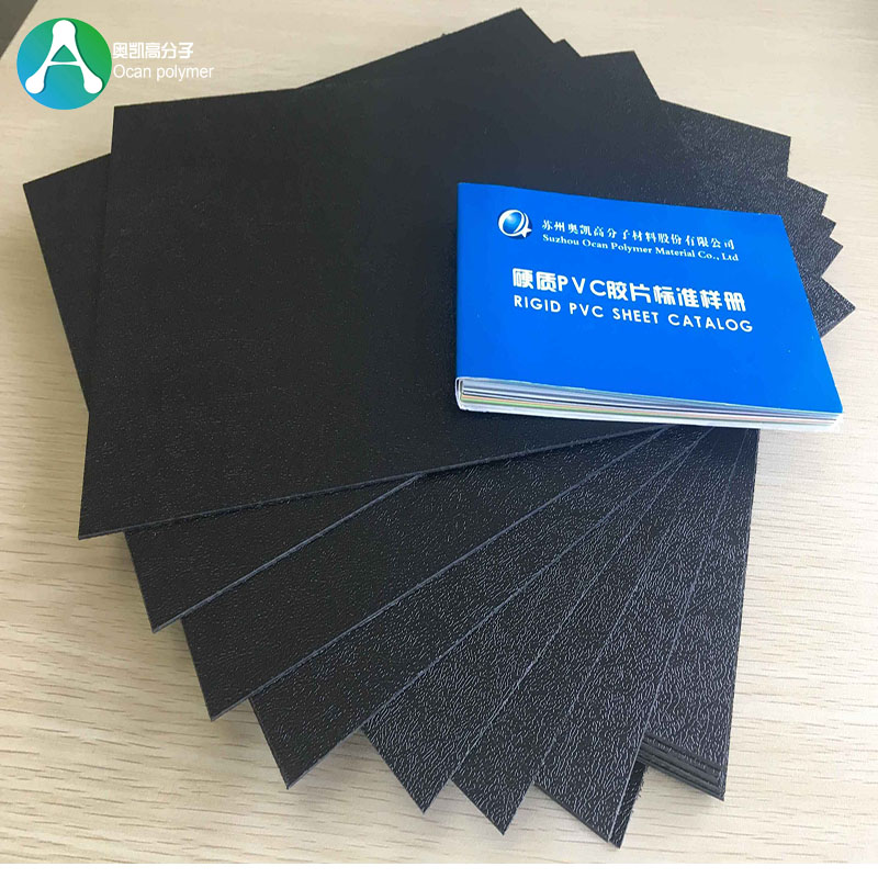 Black Textured PVC Plastic Sheet 1mm Thickness for Sale