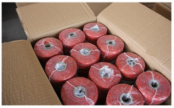 Red portable electric fence poly wire