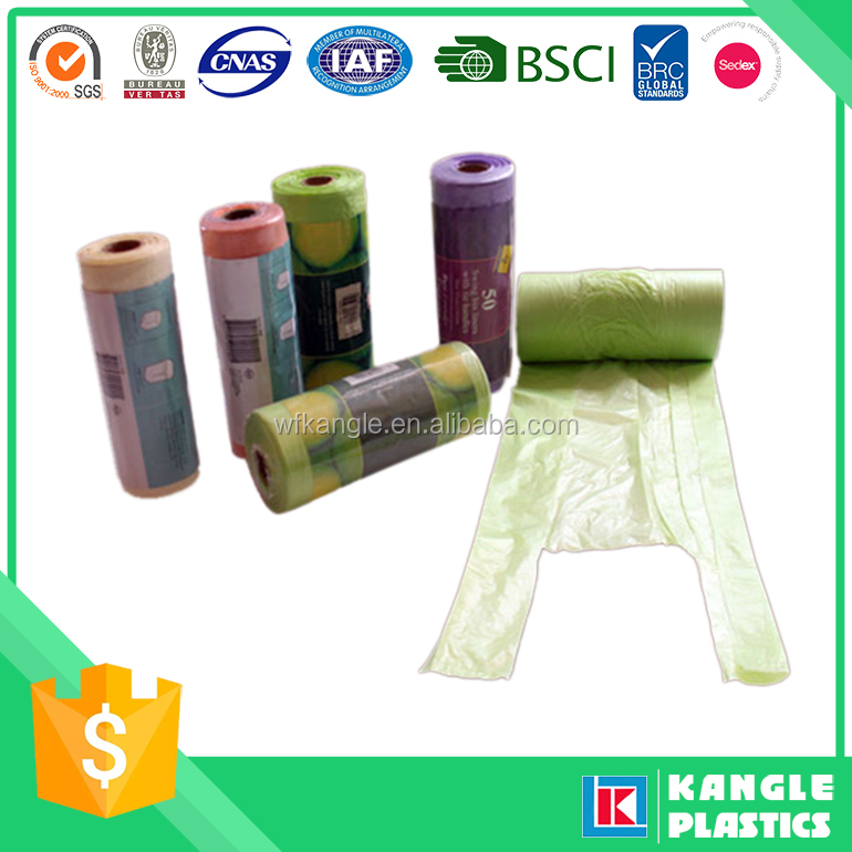 best selling products recycle custom plastic flat bottom sealed garbage bag