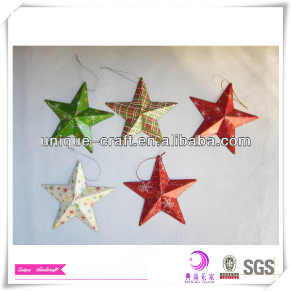 Metal hanging star Christmas tree decoration