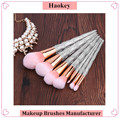 Amazon Hot Selling Makeup Tool Pink Synthetic Hair Diamond Handle Professional Makeup Brushes