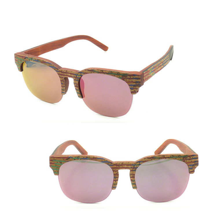 Sawdust Cork Recycled Wood Sunglasses Custom Engraved Cork Wood Sunglasses