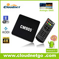 Cloudnetgo digital set up box with amlogic fulent player with amlogic 3D player and suuprot for 4k koid 16.0 hot sell box