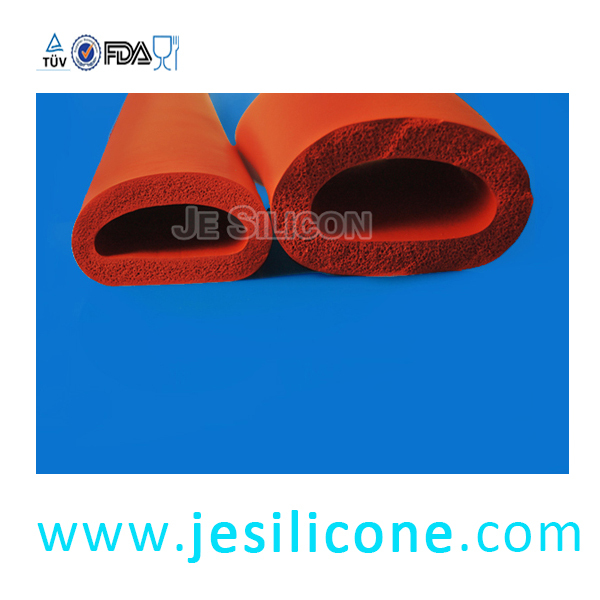 High temp resistants Silicone foam tube manufacture SIlicone fire resistance Silicone tube