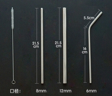 Food grade 18/8 stainless steel straw set