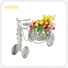 Metal Tricycle Bike Flower Basket Plant Stand Garden Planter