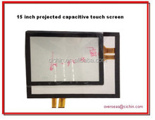 15 inch projected capacitive touch screen panel, lcd display touch screen capacitive