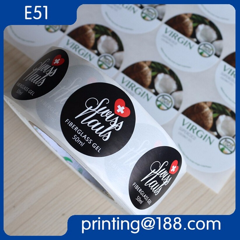 Waterproof Removable Adhesive Sticker, Liquor Bottle Label, Roll Label Sticker