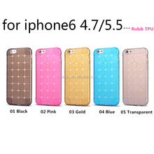 New Products Rubik Cube Soft TPU Case for iPhone 6 Back Cover Magic Cube TPU Phone Accessories