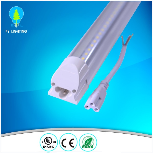 High lumen 110lm/W T5 T8 integrated led tube light with connectors