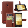 Funky wallet leather mobile phone case for asus zenfone 5